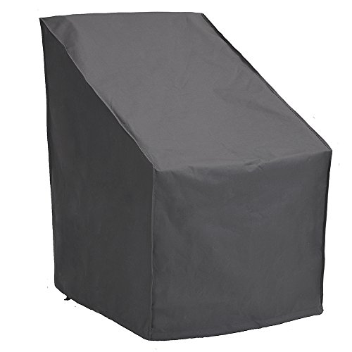 Patio Watcher High Back Patio Chair Cover, Durable and Waterproof Out Furniture Chair Cover,Grey (High Stackable Back)