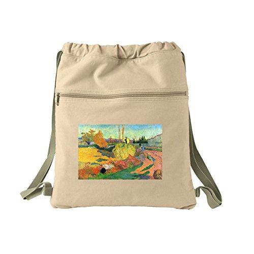 Von Arles (Gauguin) Canvas Dyed Sack Backpack Bag (Arles Canvas)