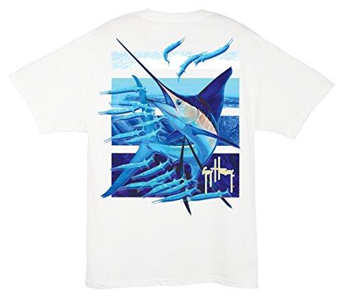Xxx Guy (Guy Harvey Ballyhoo T-Shirt (3X-Large, White))