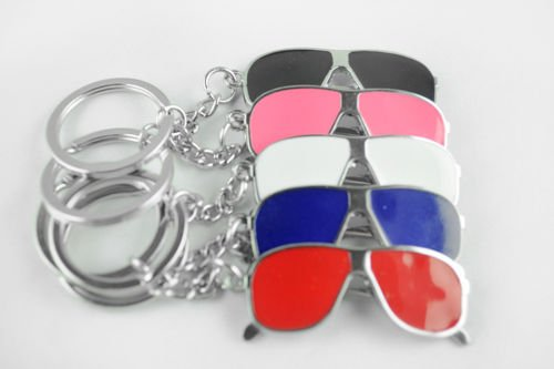 New Unique Creative Sunglasses Big Glasses Key Chain Ring Keyring Metal - Sunglasses Keychain