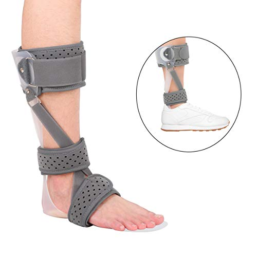 Ankle Foot Orthosis, 3 in 1 Medical Drop Foot Postural Correction Brace AFO Brace for Stroke Foot Drop Charcot Marie Tooth Disease (Right/M)