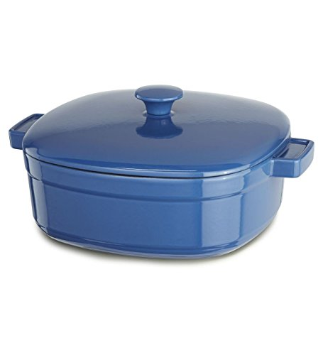 KitchenAid KCLI30CRNB Streamline Cast Iron 3-Quart Casserole Cookware - Spring Blue