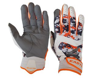 Easton Stealth Core Adult Batting Gloves - Digital Camo/Orange - NEW by Easton