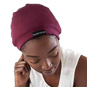 Amazon Com Grace Eleyae Slap Satin Lined Sleep Cap