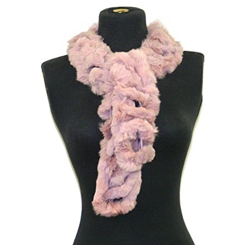 Angora Scarf - Bridal Wedding Dinner Party Angora Rabbit Fur Neck Scarf Wrap--Dusty Pink