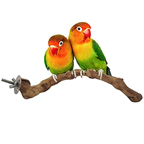 Bwogue Bird Perch,Natural Grapevine Bird Cage Perch for Parrot Cages Toy - Wooden Perch