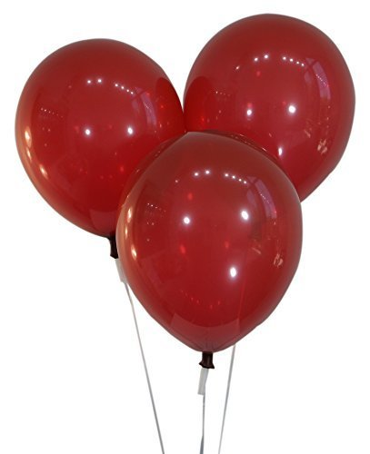 "Creative Balloons 12"" Latex Balloons - Pack of 100 Pieces - Decorator Burgundy Wine"