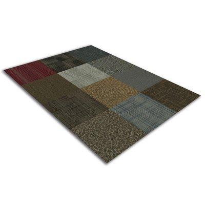 4URFloor Kaleidoscope 24'' x 24'' Carpet Tile in (24' Wooden Stick)