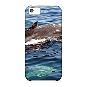 LJF phone case New Iphone 5c Case Cover Casing(dolphin Swimming Animals)