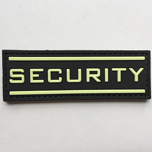 Security Uniform Patches (Security Glow in the Dark 3D PVC Rubber Tactical Uniform Patch Airsoft with Hook Velcro by uuKen Tactical Gear)