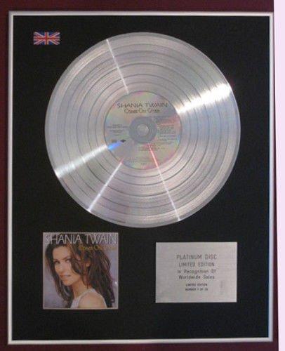 Platinum Disc COME ON OVER SHANIA TWAIN