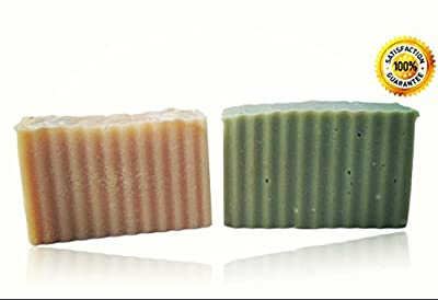 ~SPECIAL DEAL~ Handmade Goat Milk Soap, Patchouli and Tea Tree Scents (2 pack- 5.0 oz/bar). All Natural, Non-Drying, Long Lasting (Patchouli and Tea Tree)