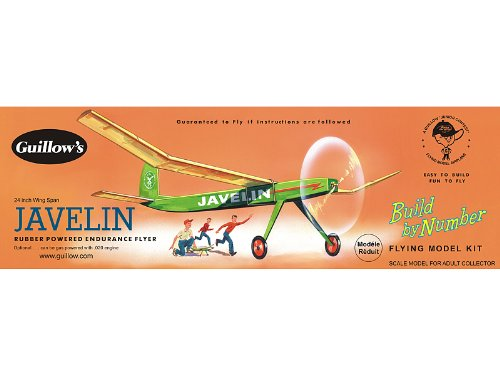 (Guillow's Javelin Rubber Powered Endurance Flyer Model Kit)