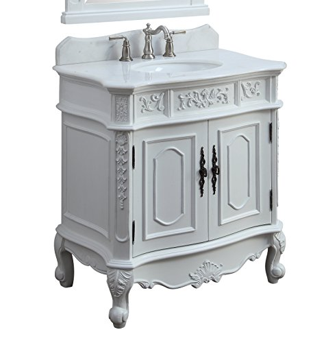 33″ Benton Collection Unique Classic Benson Bathroom Sink Vanity Model HF021W-AW-33 Review