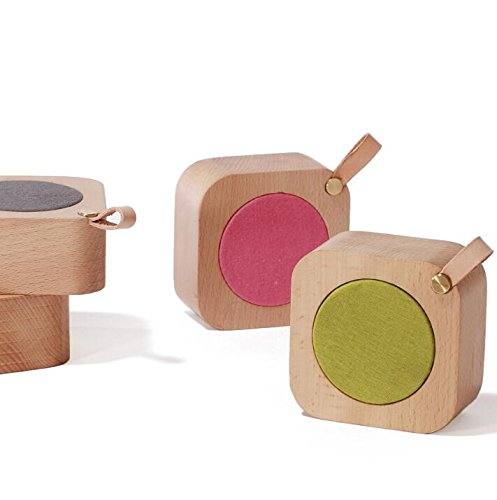 Aiweasi Simple Wooden Music Box For College Graduation Souvenir With Music of Castle in the Sky-Rose Red by Aiweasi (Image #4)