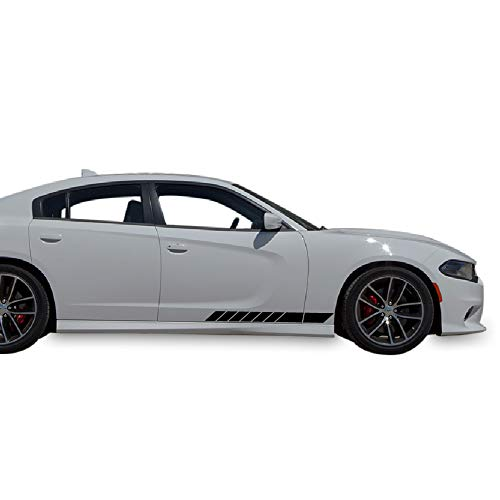 Bubbles Designs 2X Lowered Door Racing Stripes Decal Sticker Graphic Compatible with Dodge Charger SRT,RT,SXT 2011-2016