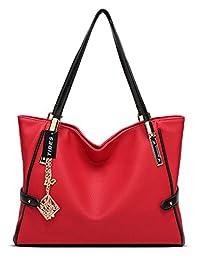 Tibes Stylish PU Leather Handbag Women Shoulder Bags
