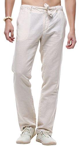 Linen Blend Casual Pants - 9