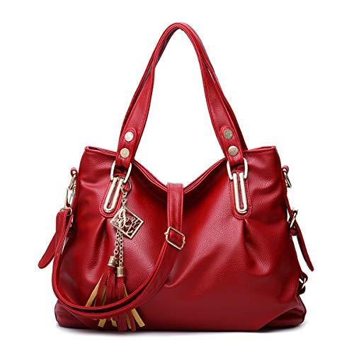 Sacs Pu Fourre D'épaule Bandoulière 92309 Portés Femme Cuir Sac Main À Red Exull Élégant Femme Tout Cabas n67qnR8Hxw