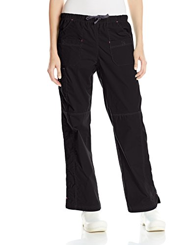 WonderWink Women's Wonderflex Faith Scrub Pant, Black, Medium Petite