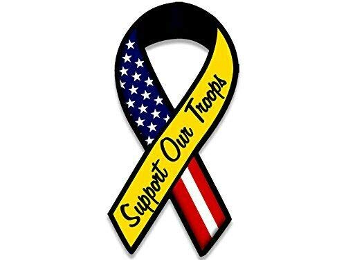 Eagles Magnet Ribbon - MAGNET 3x6 inch Ribbon Shaped Support Our Troops Sticker (US Support Army Marines Navy) Magnetic vinyl bumper sticker sticks to any metal fridge, car, signs