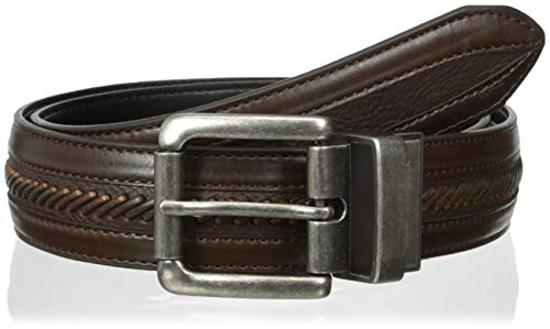 Columbia Men's Ainsworth 1 3/8 in. Top Laced Men's Belt,Brown/Black,34