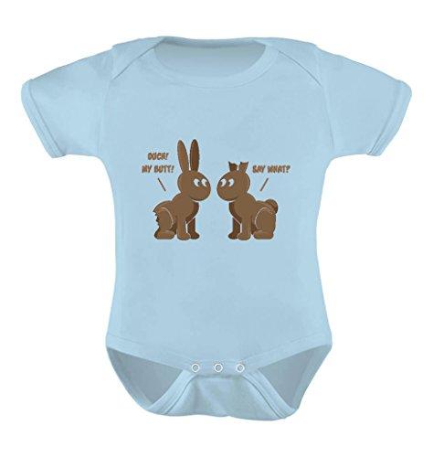 Tstars Easter Chocolate Bunnies Easter Gift Infant Funny Cute Baby Boy/Girl Bodysuit 12M Aqua