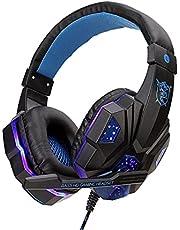 Domary SY830MV Fones de ouvido para jogos de computador com fio Fone de ouvido para jogos com microfone AUX + porta USB de controle de volume para PC