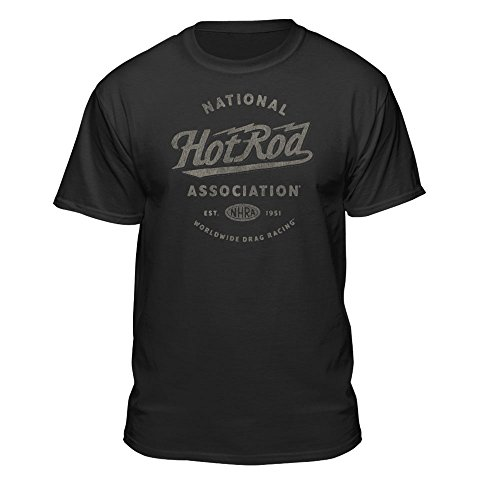 Association Dark T-shirt - NHRA National Hot Rod Association Worldwide Drag Racing Men's Vintage T-Shirt (X-Large) Black