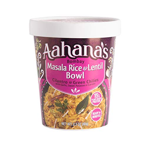 Aahana's Lentil and Rice Bowls - Gluten Free, NON-GMO, Vegan Food with 15g Plant-Based Protein - Ready-to-Eat, Vegetarian Meals, Just add Water - No Refrigeration Required - Variety 4- Pack 2.3 Oz 5