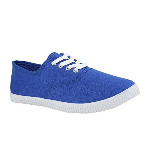 Damen Blue Unisex Herren Blau Low Basic Sneaker Stiefelparadies Flandell vqZxndv
