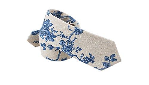 Acvip Cravate Homme Acvip Bleues Homme Fleurs Cravate qwfq7Rxar