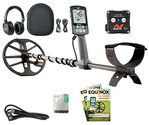 Minelab EQUINOX 800 Multi-IQ Metal Detector with EQX 11' DD Smart Coil, Wireless Headphones and WM08 Adapter.