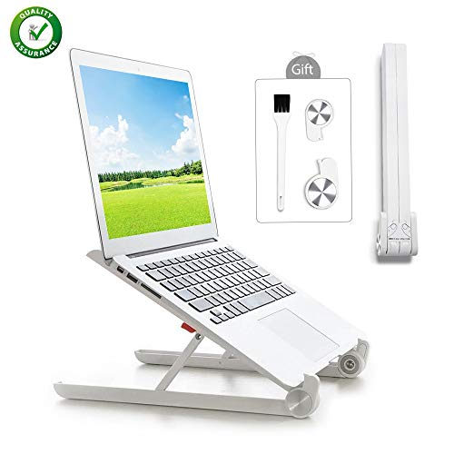 Portable Laptop Stand Foldable Laptop Stand Adjustable Notebook Holder White Laptop Riser Shelf for Girls Women Men Used on Notebook Computer PC PAD Tablet Lightweight