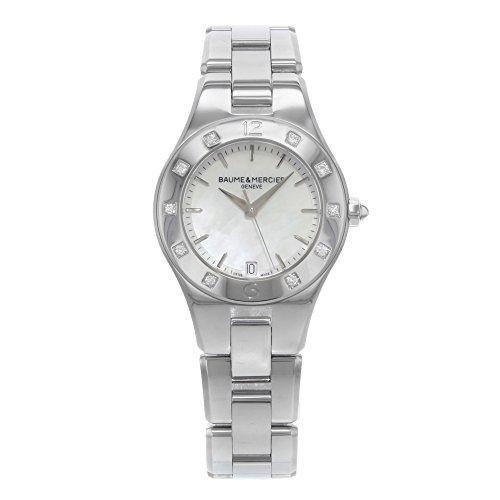 Baume & Mercier Women's A10071 Linea Analog Display Swiss Quartz Silver Watch (Linea Womens Watch)