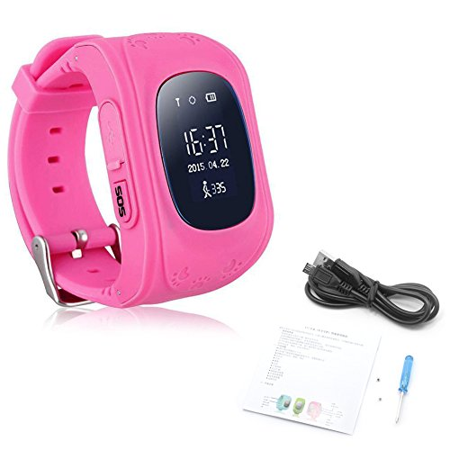 Price comparison product image Wrisky Q50 Anti-lost Children Safety Tracker Kids Smart Phone GPS Watch For Android / IOS