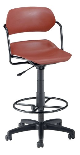 OFM 200-DK-BLK-WINE Martisa Series Plastic Task Stool with Drafting Kit