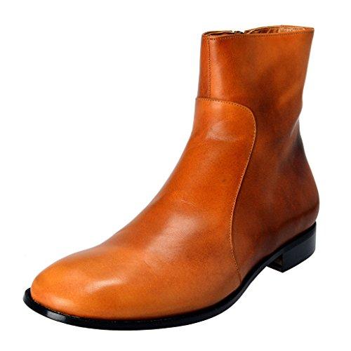 maison-margiela-22-mens-brown-leather-ankle-boots-shoes-us-10-it-43