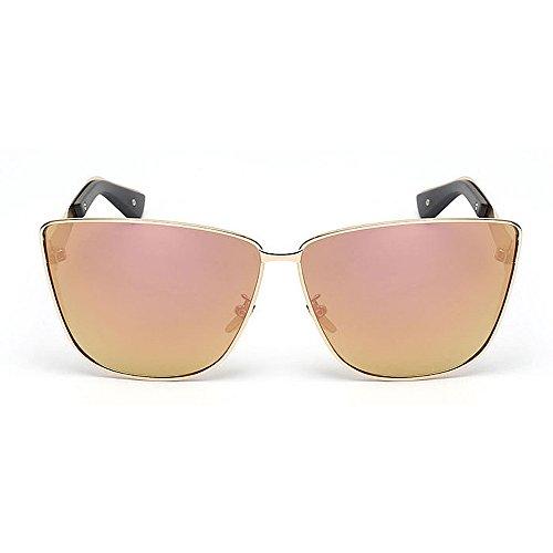 Gafas de Marco Aire Color Viajar Ojos Conducción C5 de Peggy Lente Completo Protección Sol al UV C6 Libre de Gato Gu Color metálico n4XqTzf