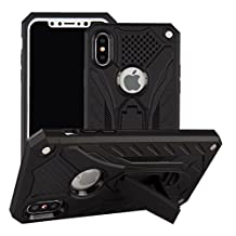 iPhone6S Plus Case, Awesome Foldable Movie Stand Special Patent Design 2 In 1 Armor Slim Cover, TAITOU New Cool Ultralight Thin Warrior Coque For Apple iPhone 6Plus Black