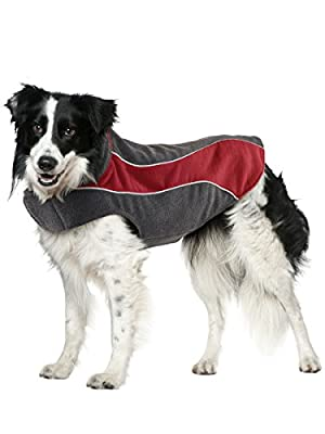 Explorer Double Fleece Reflective Dog Coat by Kakadu Pet