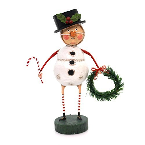 Lori Mitchell CHILLY WILLY Polyresin Candy Cane Wreath 11057