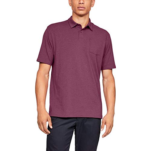 (Under Armour mens Charged Cotton Scramble Golf Polo, Charged Cherry (635)/Charged Cherry, Medium)