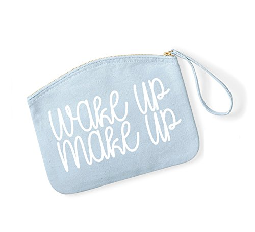 and Up Up Make Organiser Bag Lightblue Wake Up Make Accessory White Cosmetics Ffg7w