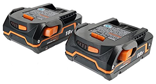 18v Twin Pack - Ridgid Genuine OEM AC840085 Twin Pack of 1.5 Amp Hour 18V Compact Lithium Ion Power Tool Battery with Onboard Fuel Gauge and Flat Standing Base (2 Batteries) (Certified Refurbished)