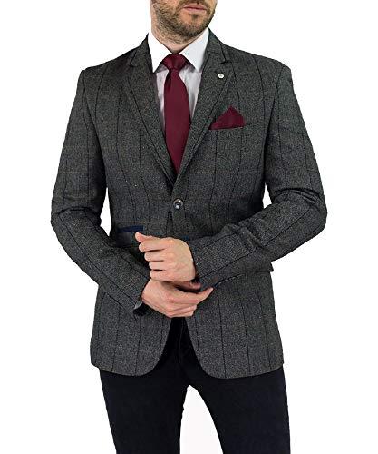 Size Costume Pièces Gris Pic À Tweed Hommes King Cavani 2 Blinder Style pRUqaFWA