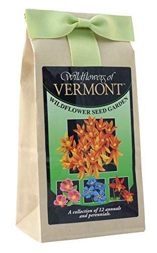 Vermont Wildflower Seed Mix - A Beautiful Collection of Twelve Annuals & Perennials - Enjoy The Natural Beauty of Vermont Flowers in Your Own Home Garden