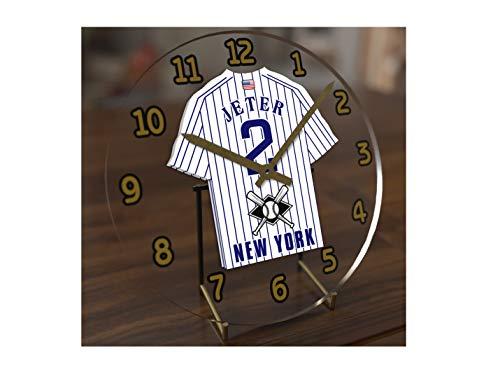 "USA Baseball Legends Table Clocks - 7"" X 7"" X 2"" M L B Jersey Themed Legend Clock (D.Jeter 2 NYY Edition)"