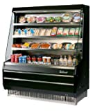 Turbo Air TOM40M 39'' Medium Display Merchandiser with Efficient Refrigeration System Attractive Glass Sides Anti-Rust Coating Back-Guard and Fluorescent Lighting: