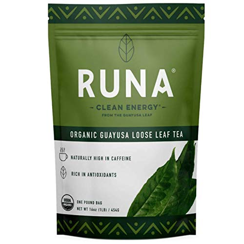 RUNA Organic Guayusa Loose Leaf Energy Tea, 1 Pound (16oz) | High Caffeine Coffee Alternative | Sustained Boost with No Jitters | Organic and Antioxidant Rich